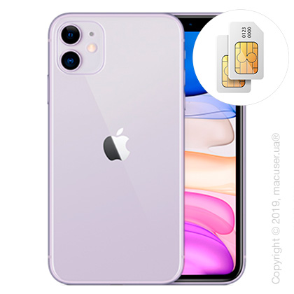 Apple iPhone 11 2-SIM 128GB, Purple New