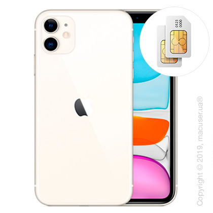 Apple iPhone 11 2-SIM 128GB, White