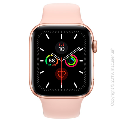 Apple Watch Series 5 GPS, 44mm Gold Aluminum Case with Pink Sand Sport Band