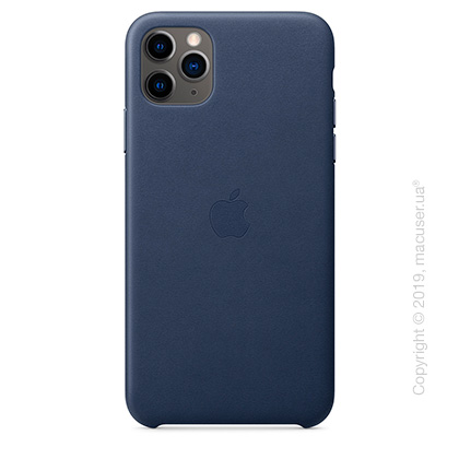 iPhone 11 Pro Max Leather Case - Midnight Blue