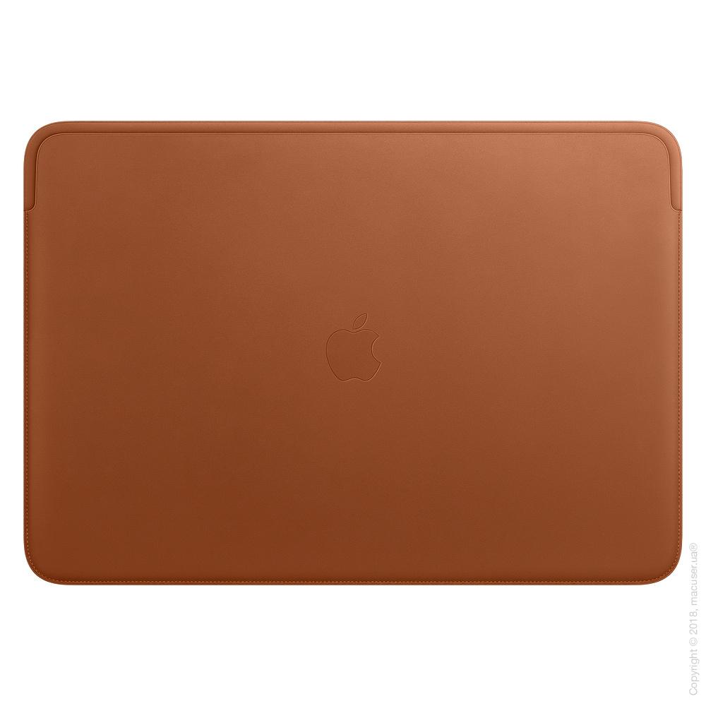 Кожаный чехол для MacBook Pro 16 дюймов, Saddle Brown