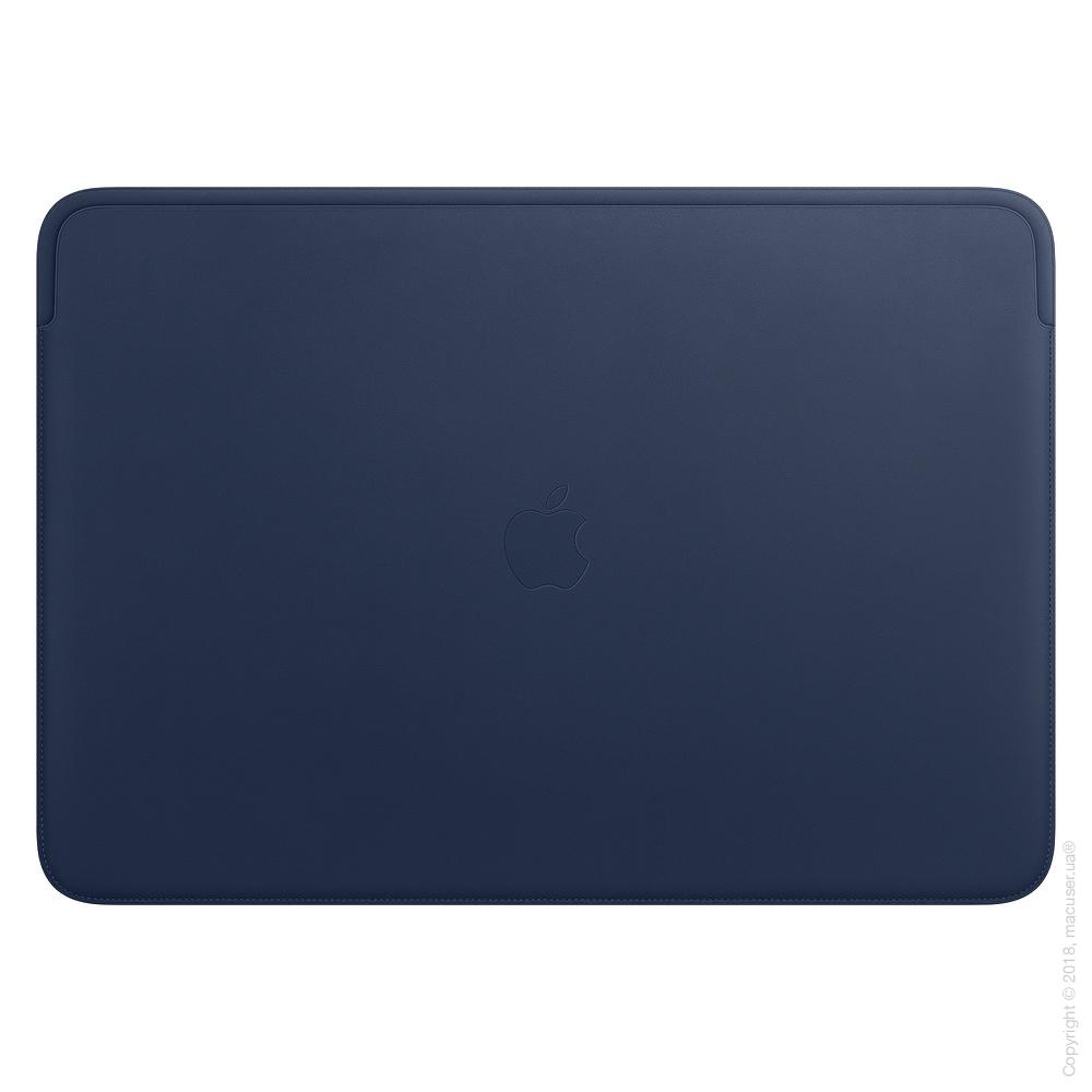 Кожаный чехол для MacBook Pro 16 дюймов, Midnight Blue