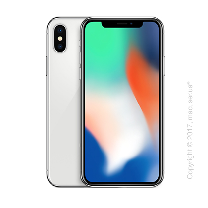 Apple iPhone X 64GB, Silver Б/У