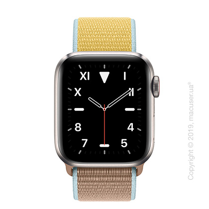 Apple Watch Edition GPS + Cellular, 40mm Titanium Case with Camel Sport Loop