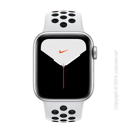 Apple Watch Series 5 GPS 40mm Silver Aluminum Case with Pure Platinum/Black Nike Sport Band