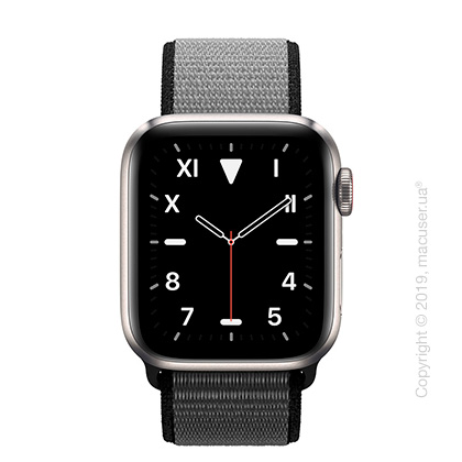 Apple Watch Edition GPS + Cellular, 40mm Titanium Case with Anchor Gray Sport Loop