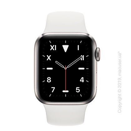 Apple Watch Edition GPS + Cellular, 40mm Titanium Case with White Sport Band