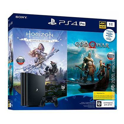 Игровая консоль Sony PlayStation 4 Pro 1TB + God of War + Horizon Zero Dawn (9994602)