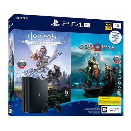 Игровая консоль Sony PlayStation 4 Pro 1TB + God of War + Horizon Zero Dawn (9994602)