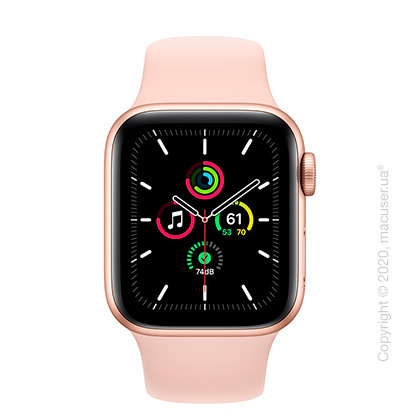 Apple Watch SE GPS 40mm Gold Aluminum Case with Pink Sand Sport Band