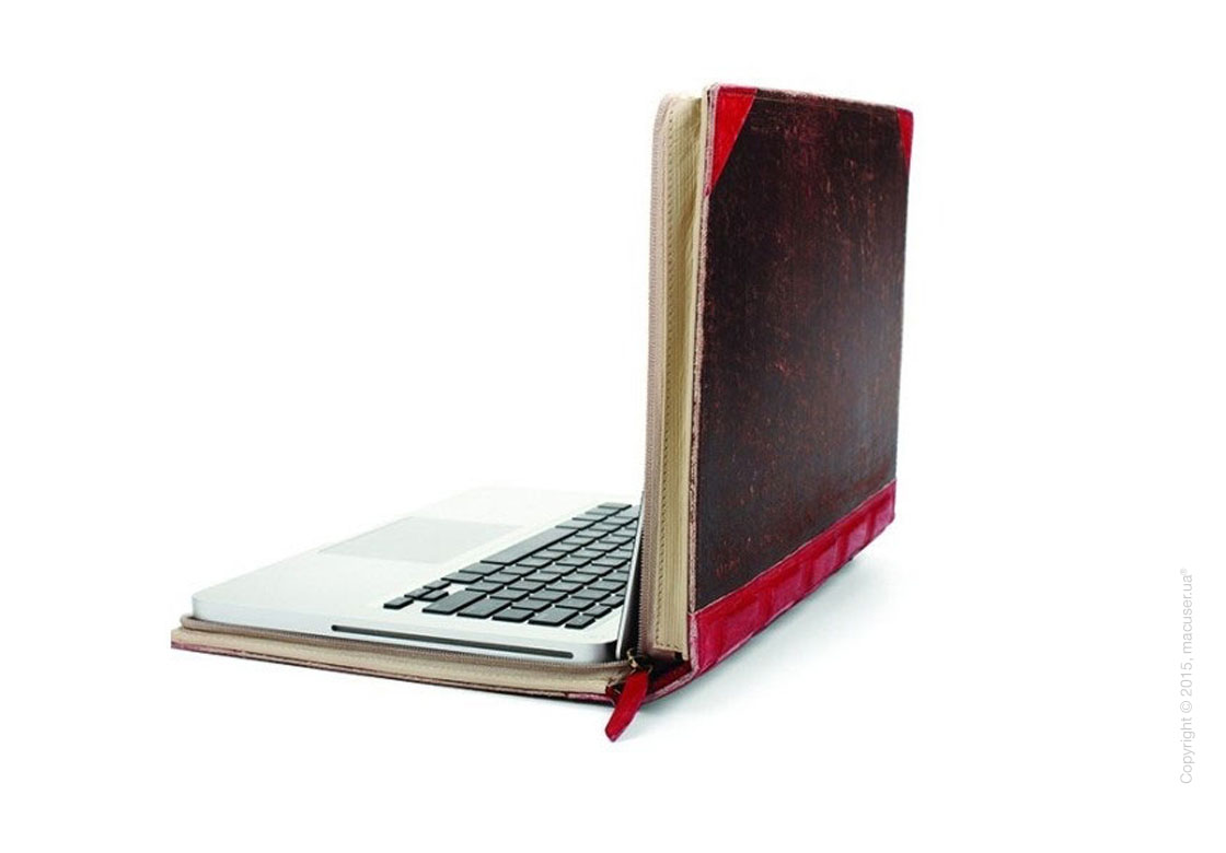 Чехол Twelve South Leather Case BookBook Vibrant, Red для MacBook Pro 15