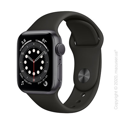 Apple Watch Series 6 GPS 40mm Space Gray Aluminum Case with Black Sport Band