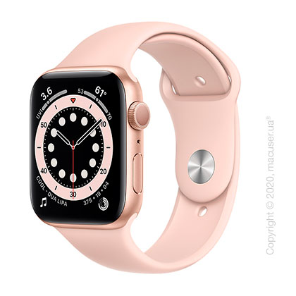 Apple Watch Series 6 GPS 44mm Gold Aluminum Case with Pink Sand Sport Band