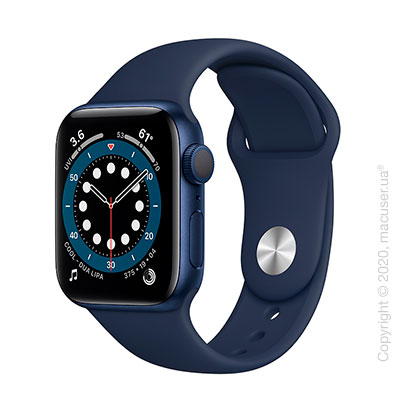 Apple Watch Series 6 GPS 40mm Blue Aluminum Case with Deep Navy Sport Band
