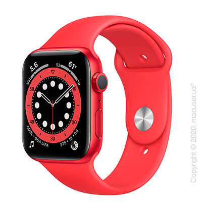 Apple Watch Series 6 GPS 44mm PRODUCT(RED) Aluminum Case with PRODUCT(RED) Sport Band