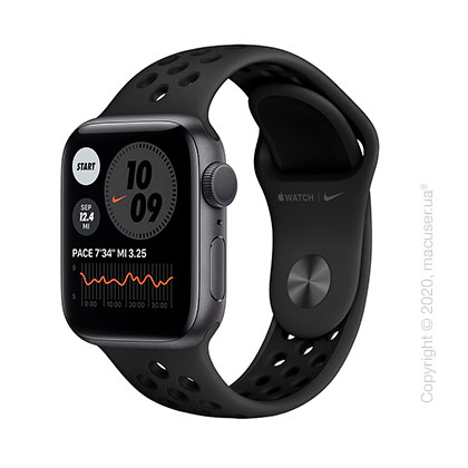 Apple Watch Series 6 GPS 40mm Space Gray Aluminum Case with Anthracite/Black Nike Sport Band