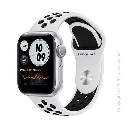 Apple Watch Series 6 GPS 40mm Silver Aluminum Case with Pure Platinum/Black Nike Sport Band