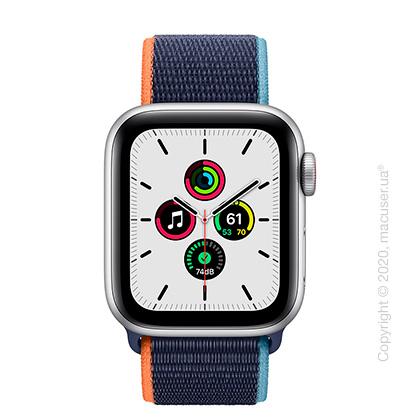 Apple Watch SE GPS + Cellular 40mm Silver Aluminium, Deep Navy Sport Loop