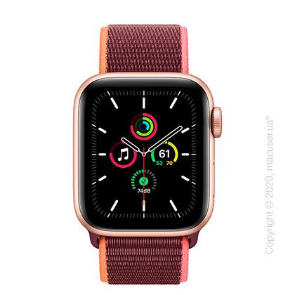 Apple Watch SE GPS + Cellular 40mm Gold Aluminium, Plum Sport Loop