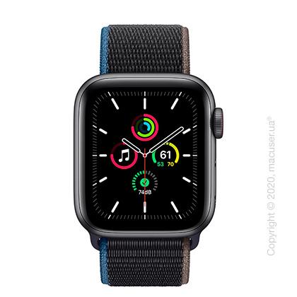 Apple Watch SE GPS + Cellular 40mm Space Grey Aluminium, Charcoal Sport Loop