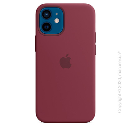 Чехол iPhone 12 mini Silicone Case with MagSafe - Plum