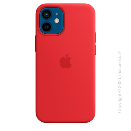 Чехол iPhone 12 mini Silicone Case with MagSafe - (PRODUCT)RED