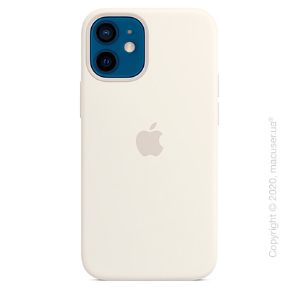Чехол iPhone 12   12 Pro Silicone Case with MagSafe - White