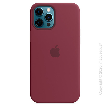 Чехол iPhone 12 Pro Max Silicone Case with MagSafe - Plum