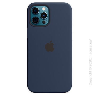 Чехол iPhone 12 Pro Max Silicone Case with MagSafe - Deep Navy