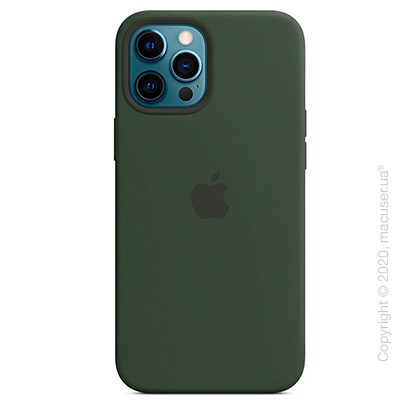 Чехол iPhone 12 Pro Max Silicone Case with MagSafe - Cyprus Green