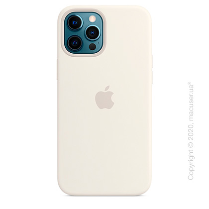 Чехол iPhone 12 Pro Max Silicone Case with MagSafe - White