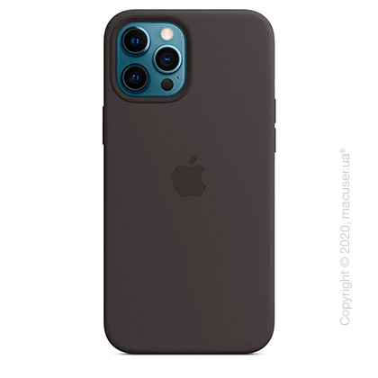 Чехол iPhone 12 Pro Max Silicone Case with MagSafe - Black