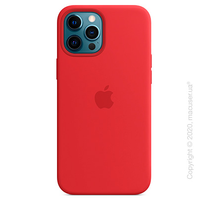 Чехол iPhone 12 Pro Max Silicone Case with MagSafe - (PRODUCT)RED