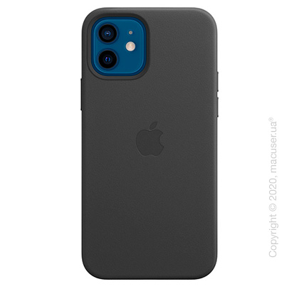 iPhone 12   12 Pro Leather Case with MagSafe - Black