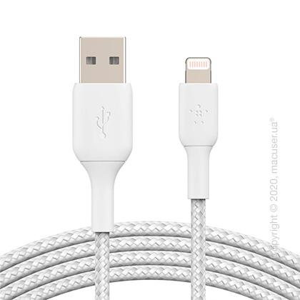Кабель Belkin USB to Lightning, BRAIDED 1m White