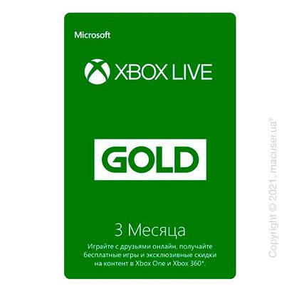 Подписка Xbox Live Gold 3 месяца RU-регион