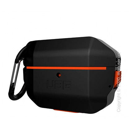 Чехол UAG Hardcase для Airpods Pro, Black/Orange