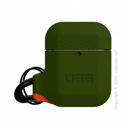 Чехол UAG Silicone для Airpods Olive Drab/Orange