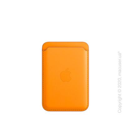 Кожаный чехол-бумажник MagSafe для iPhone, цвет «золотой апельсин»
