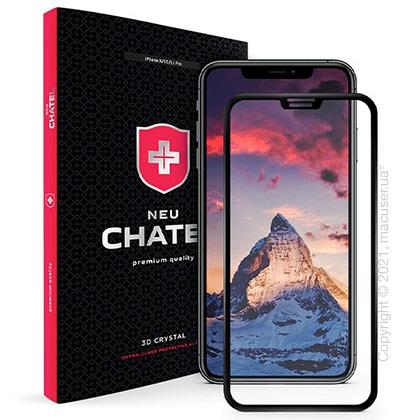 Стекло +NEU Chatel Full 3D Crystal for iPhone XS Max/11 Pro Max Front Black