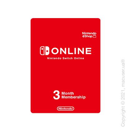 Nintendo Switch Online, индивидуальное членство 3 месяца, RU регион