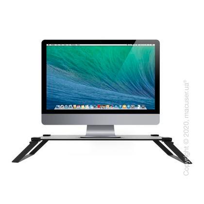 Подставка Macally универсальная для ноутбуков, мониторов, TV (до 18 кг), закаленное стекло и сталь