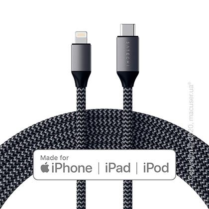 Кабель Satechi USB-C to Lightning Cable Space Gray (1.8 m)