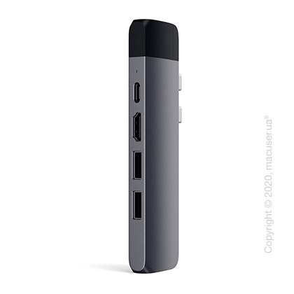 Адаптер Satechi Aluminum Type-C Pro Hub Adapter with Ethernet Space Gray