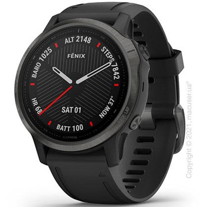 Спортивные часы Garmin Fenix 6S Carbon Gray DLC with Black Band