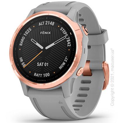 Спортивные часы Garmin Fenix 6S Rose Gold-tone with Powder Gray Band