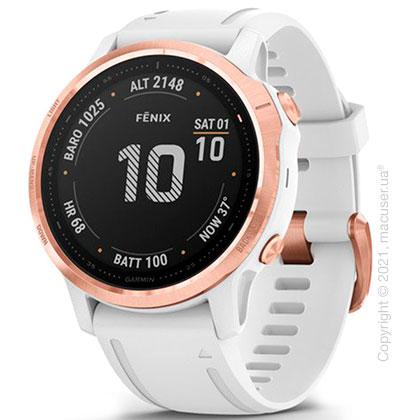 Спортивные часы Garmin Fenix 6S Rose Gold-tone with White Band