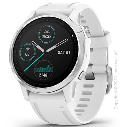 Спортивные часы Garmin Fenix 6S Silver with White Band
