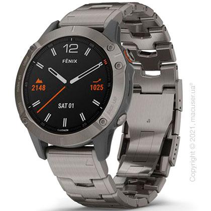 Спортивные часы Garmin Fenix 6 Titanium with Vented Titanium Bracelet