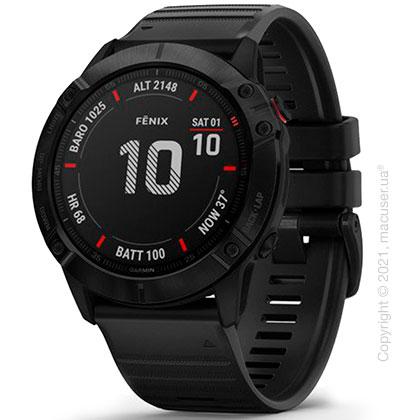 Спортивные часы Garmin Fenix 6X Black with Black Band